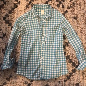 J. Crew The Perfect Shirt - Teal & White - 2